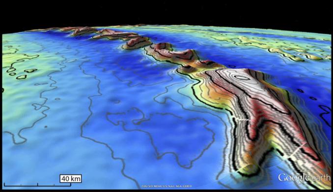 Imagen de la gravedad oceánica obtenida por Cryosat. ESA.