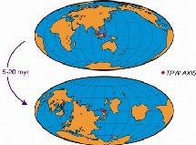 Gráfico del posible cambio terrestre. Maloof Laboratory.