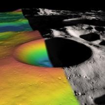El cráter  Shackleton. NASA/Zuber, M.T. et al., Nature, 2012.