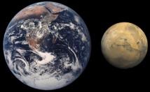 Comparación entre la Tierra y Marte. Wikipedia.