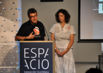 Alejandro Sacristán y Ana Cremades, en un momento de la presentación. Foto: Ana Ramírez de Arellano.
