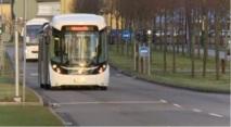 """Uno de los """"autobuses del futuro"""" que se han probado en Gotemburgo (Suecia). Fuente: EBSF."""
