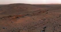 Imagen de Marte tomada por el rover Spirit de la NASA. Imagen: NASA/JPL. Fuente: Wikimedia Commons.