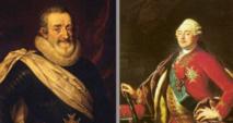 Imágenes de Enrique IV (izquierda) y Luis XIV. Fuente: CSIC.