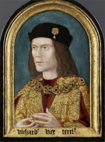 Retrato de Ricardo III antiguamente perteneciente a la familia Paston. Imagen: Richard III Society website. Fuente: Wikimedia Commons.