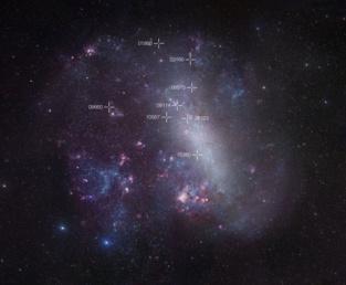 Mapa de la Gran Nube de Magallanes. Fuente: ESO.