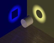 Imagen ilustrativa de la dualidad onda-partícula, en la que se puede ver cómo un mismo fenómeno puede tener dos percepciones distintas. Fuente: Wikimedia Commons.