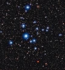 Estrellas jóvenes en el cúmulo abierto NGC 2547. Fuente: ESO.