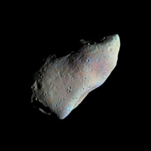 Imagen tomada por la sonda Galileo del asteroide Gaspra. Fuente: NASA.