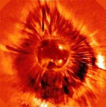 La imagen conseguida por la sonda SOHO. Fuente: ESA.