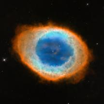 La Nebulosa del Anillo, en la nueva imagen del Hubble. Fuente: ESA.