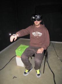 Uno de los participantes en el experimento. Fuente: UB.