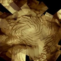 Casquete de hielo sobre el polo norte de Marte. Fuente: ESA.