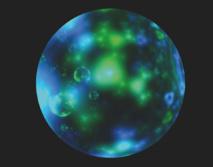 Representación del desorden de la corteza interna de una estrella de neutrones. Imagen: Nanda Rea. Fuente: CSIC.