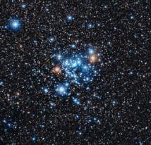 El cúmulo estelar NGC 3766. Fuente: ESO.