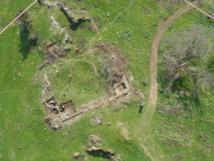 Vista aérea de la catedral de la Rocca. Fuente: CSIC.