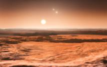 Impresión artística del sistema Gliese 667C. Fuente: ESO.