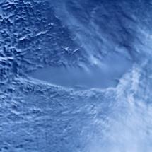 Vista del satélite del lago Vostok, cubierto por el hielo. Imagen: Goddard Space Flight Center. Fuente: NASA/Wikipedia.