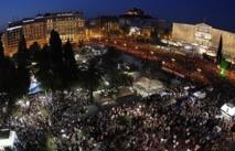 Imagen de la plaza Syntagma de Atenas, en la que se reunieron 100.000 personas el 29 de mayo de 2011 para protestar contra las medidas de austeridad. Imagen: Kotsolis. Fuente: Wikipedia.