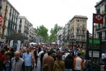 Vista de la zona de Las Ramblas, en Barcelona. Imagen: Yearofthedragon. Fuente: Wikimedia Commons.