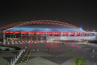 Estadio de Al Khalifa, en Doha. Imagen: daly3d abd. Fuente: Al Khalifa Stadium Doha/Flickr.
