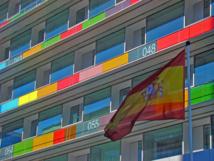 Detalle de la fachada del INE en Madrid. Imagen: Merce Blanco. Fuente: Flickr.
