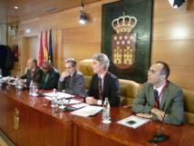 De izquierda a derecha, Salvador Bellido, Tosha Yaubuta, Antero Ruiz, Guillermo Anguera y Antonio Fernández Ecker. Imagen: C. G. A.