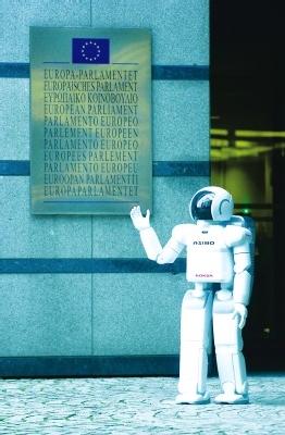 Robot en el Parlamento Europeo.
