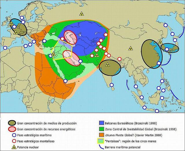 Cuestiones geopolíticas en el mundo en el año 2013. Fuente: Paolo Porsia.