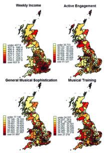 Mapas elaborados a partir de los datos obtenidos en la encuesta. Fuente: Universidad Goldsmiths.
