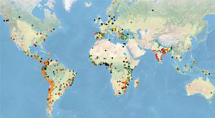 El Atlas Global de Justicia Ambiental, a fecha de hoy. Fuente: EJAtlas.