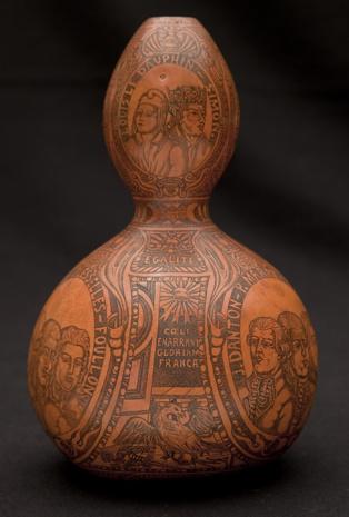 La calabaza decorada de la época de la Revolución Francesa. Imagen: Davide Pettener.