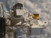 La European Technology Exposure Facility (EuTEF), carga montada en el exterior de la Estación Espacial Internacional que permite exponer materiales directamente al duro entorno espacial. Fuente: NASA.