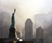 La Estatua de la Libertad el 11 de septiembre de 2001