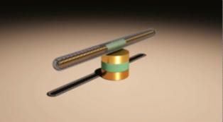Nanomotor simple. Fuente: Universidad de Texas en Austin.