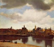 Vista de Delft, de Vermeer. Fuente: Wikipedia.