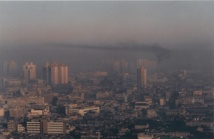 Contaminación atmosférica en Shangai (China). Fuente: Wikipedia.