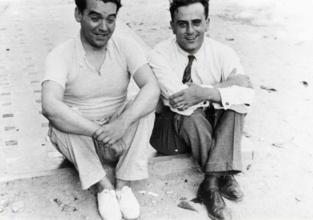 Federico García Lorca y Miguel Pizarro en 1934. Imagen: Francisco García Lorca. Fuente: Archivo Fundación Federico García Lorca.