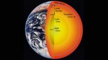La zona de transición se encuentra entre el manto superior (upper mantle) y el manto inferior (lower mantle), a 660 kilómetros de profundidad. Fuente: Universidad del Noroeste.