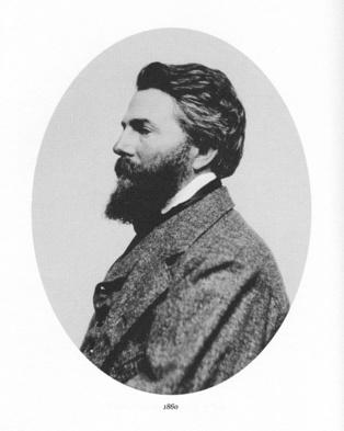 Retrato de Herman Melville hacia 1860. Fuente: Wikipedia.