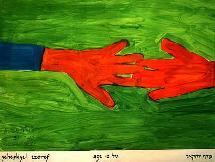 Manos unidas por la paz. Yeheskyel Tzoref, 12 años.
