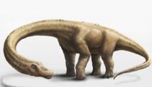 Representación en 3D del 'Dreadnoughtus schrani'. Imagen: Mark A. Klingler. Fuente: Museo Carnegie de Historia Natural.