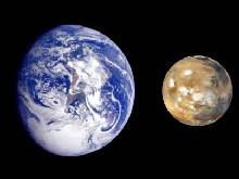 Marte y la Tierra. Composición. NASA