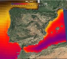 Imagen del visor del estudio sobre la subida del nivel del mar en España. Fuente:  IHCantabria. Click para ir al visor.