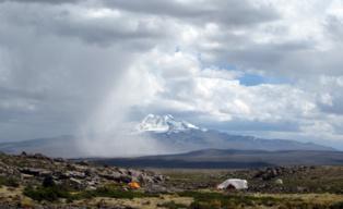Campamento base en Pucuncho. Imagen: Matthew Koehler.
