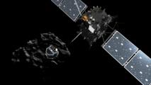 Recreación artística de la separación de Rosetta y Philae. Fuente: ESA.