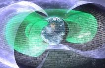 Ilustración del 'muro' invisible que protege a la Tierra de los electrones. Imagen: Andy Kale. Fuente: Universidad de Alberta (Canadá).