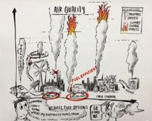 Esquema de los distintos efectos de los combustibles y la electricidad utilizada en el transporte. Fuente: Universidad de Minnesota.