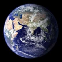 Foto de la Tierra tomada por la NASA. Fuente: NASA.