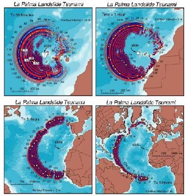 Catastróficos tsunamis podrían derivarse del derrumbe de un volcán de La Palma